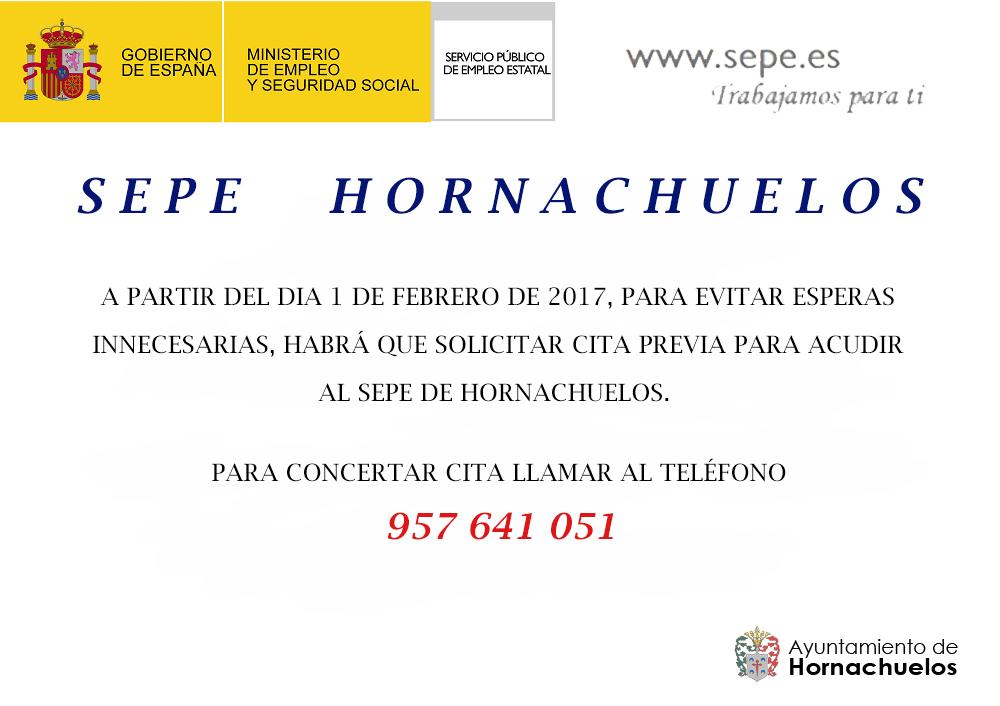 Hornachuelos nuevo servicio de cita previa oficina del for Sepe oficinas